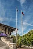 Berg-königliche Chaletflaggen Lizenzfreies Stockbild