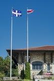Berg-königliche Chaletflaggen Lizenzfreies Stockfoto