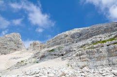 Berg Kanin in den julianischen Alpen Lizenzfreies Stockbild