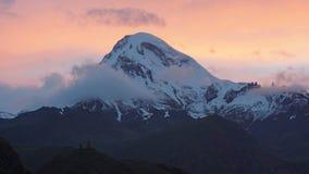 Berg Kazbek, Georgia, Europa Stockfotos