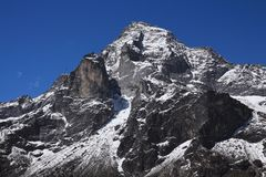Berg Khumbi Yul Lha auch genanntes Khumbila Gott im Sherpa-Kult Lizenzfreie Stockfotografie