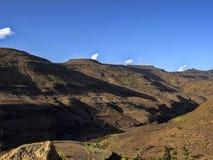 Berg kultivierte Ackerland, Äthiopien lizenzfreies stockbild