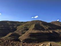 Berg kultivierte Ackerland, Äthiopien stockbilder