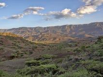 Berg kultivierte Ackerland, Äthiopien stockfotografie