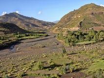 Berg kultivierte Ackerland, Äthiopien stockbild