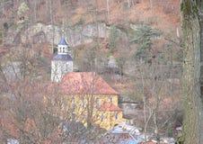 Berg kyrkliga Oybin Fotografering för Bildbyråer