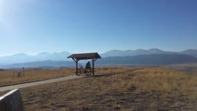 berg längs horisonten Arkivbilder