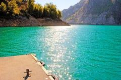 Berg Lake. arkivbilder