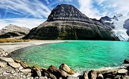 Berg Lake, Glacier, Mount Robson Park, Canadian Rockies Royalty Free Stock Photography