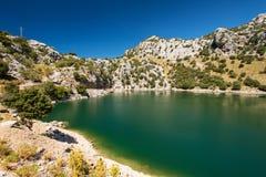 Berg lake på Mallorca Balearic Island Arkivbild