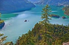 Berg Lake - Ross Lake, Wash Royaltyfri Foto