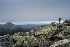 Berg landskap i nationalparken Taganai Royaltyfria Bilder