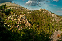Berg landskap i nationalparken Taganai Royaltyfri Bild