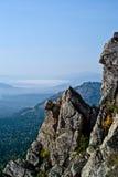 Berg landskap i nationalparken Taganai Arkivfoto