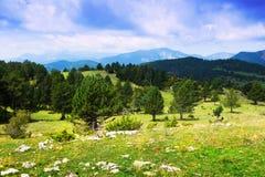 Berg landskap i Pyrenees Arkivfoto