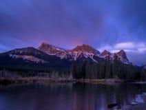 Berg Lawrence Grassi, Canmore Alberta Stockbild