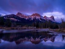Berg Lawrence Grassi, Canmore Alberta Stockbilder