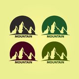 Berg Logo Design Bedrijfembleem, pictogram royalty-vrije illustratie