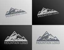Berg Logo Symbol Icon Isolated Vector Arkivbilder