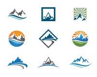 Berg Logo Template Royaltyfri Bild