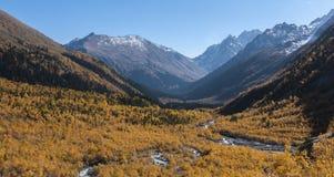 Berg lopp, natur, sjöar, höst, floder, reserv royaltyfri foto