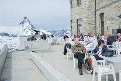Berg Matterhorn, Zermatt, Schweiz Arkivbilder