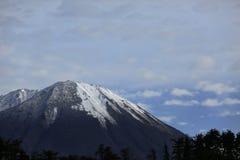 Berg met de sneeuw Stock Afbeeldingen