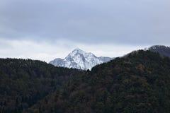Berg met de sneeuw Royalty-vrije Stock Foto's