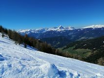 Berg met Sneeuw stock foto