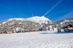 Berg met Sneeuw in Trentino wordt behandeld die Stock Fotografie
