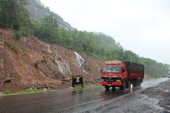 Berg met watervallen - India Stock Foto