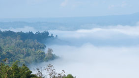 Berg mit dem Nebel Lizenzfreie Stockfotografie