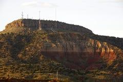 Berg mit Fernsehtürmen Lizenzfreies Stockfoto