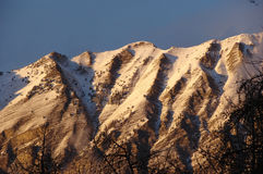 Berg mit Schnee Stockfotografie