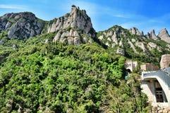 Berg Montserrat Arkivfoto