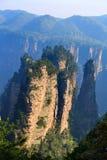 berg mystiska zhangjiajie Fotografering för Bildbyråer