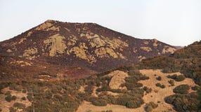 Berg nära Gevgelija Höst Macedoniaa Royaltyfri Bild