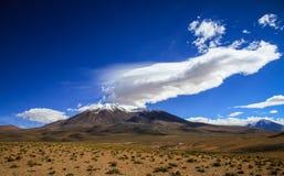 Berg nära Laguna Negra, svart lagun, Altiplano, Bolivia Arkivbilder