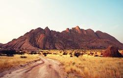 berg namibia Royaltyfri Foto