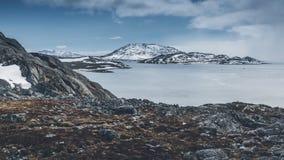 Berg Nuuk Grönland Maj 2014 Royaltyfria Foton