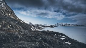 Berg Nuuk Grönland Maj 2014 Royaltyfria Bilder