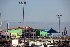 Berg-och dalbana Santa Monica strand, San Diego, Kalifornien Royaltyfri Fotografi
