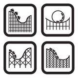 Berg-och dalbanasymbol i fyra variationer Royaltyfria Foton