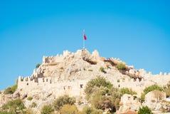 Berg och fördärvar i Turkiet Arkivbilder