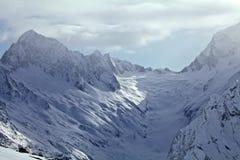 Berg och himmel Fotografering för Bildbyråer