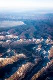 Berg och löpeld i Utah arkivfoton