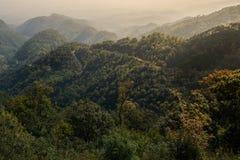 Berg och ljus Arkivfoto