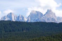 Berg och skogar Fotografering för Bildbyråer