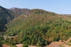 Berg och stenar av Montenegro Arkivbild