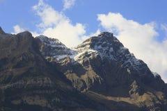 Berg och träd i Pyrenees, höst, Valle de Tena Royaltyfria Bilder